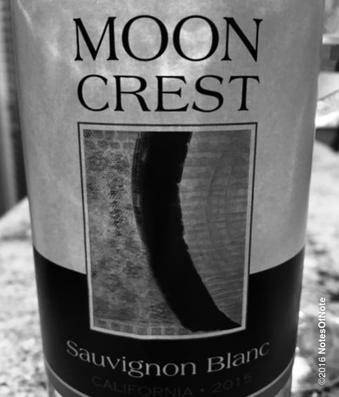2015 Moon Crest Sauvignon Blanc, Santa Clara Valley, California, USA.