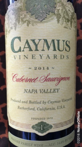 2014 Caymus Cabernet Sauvignon, Napa Valley, California, USA. AKA #6!