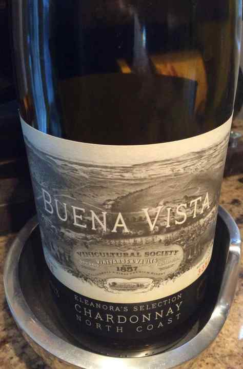 2013 Elenora's Selection Chardonnay, Buena Vista Winery, Sonoma, California, USA.