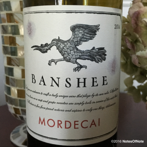 2014 Mordecai Proprietary Red Blend, Banshee Wines, Nice, California, USA.