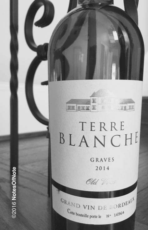2014 Terre Blanche Grand Vin de Bordeaux, Graves, Bordeaux, France.
