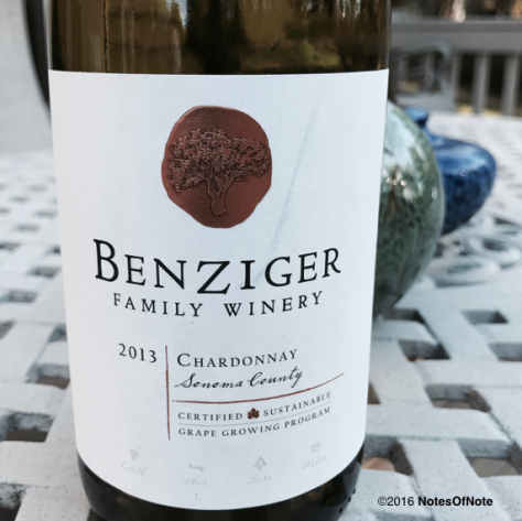 2013 Chardonnay, Benzinger Family Wines, Sonoma, California, USA.