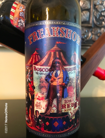 2014 Freakshow, Michael David Winery, California, USA.