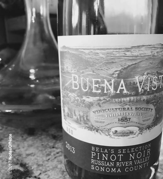 2013 Bela's Selection Pinot Noir, Russian River Valley, Sonoma County, California, USA.