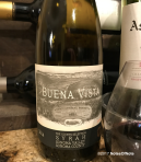 2014 The Count's Selection Syrah, Buena Vista Winery, Sonoma County, California, USA.