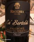2007 Recchia Amarone Classico Ca Bertoldi, della Valpolicella, Italy.