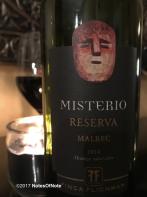 2014 Misterio Reserva Malbec, Finca Flichman, Mendoza, Argentina.