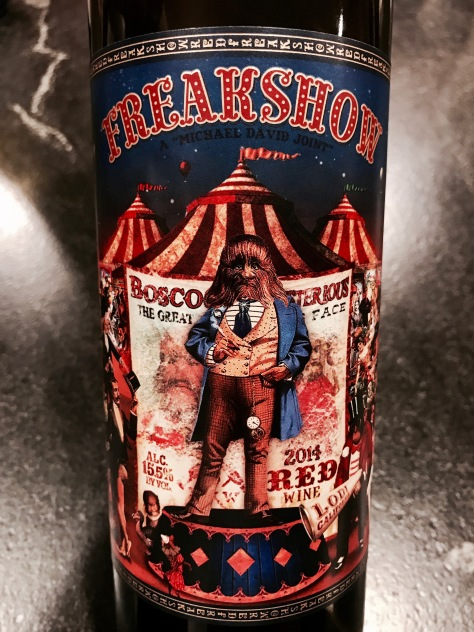 2014 Freakshow Red Wine, Michael David Winery, Lodi, California, USA.