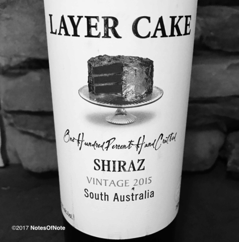 2015 Shiraz, Layer Cake, South Australia.