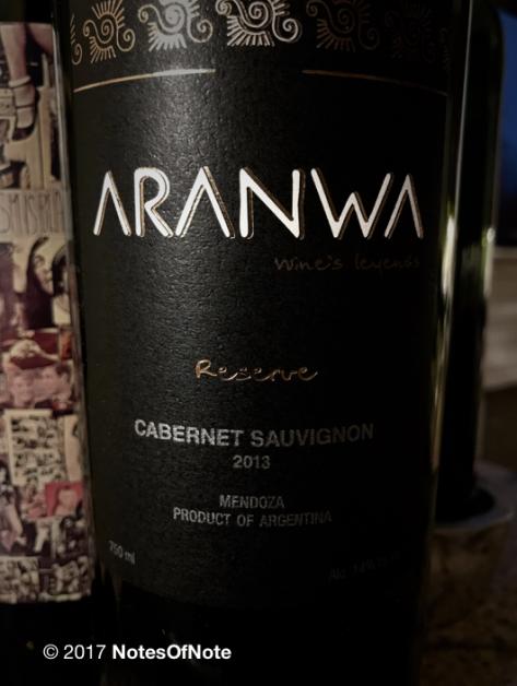 2013 Aranwa Reserve Cabernet Sauvignon