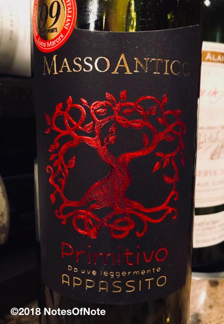 2015 Masso Antico, Appassito Primitivo, Salento, Italy