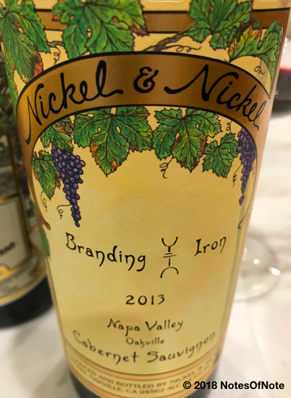2013 Nickel & Nickel - Branding Iron Vineyard, Cabernet Sauvignon, Napa Valley, California, USA