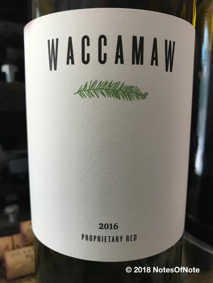 2016 Waccamaw Proprietary Red Blend, Waccamaw Wines, California, USA.