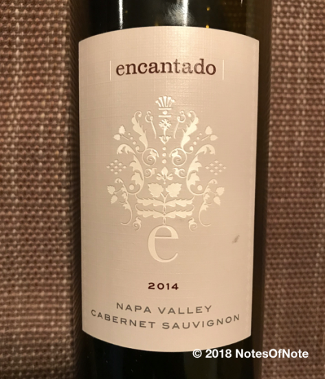 2014 Encantado Cabernet Sauvignon, Pine Ridge Vineyards, Napa Valley, California, USA.