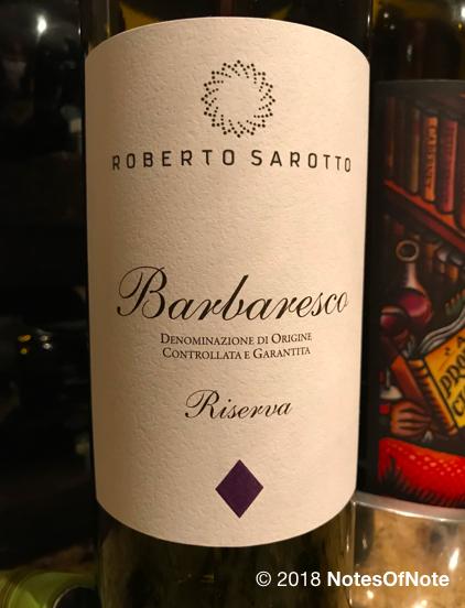 2012 Barbaresco Riserva, Roberto Sarotto, Barbaresco, Italy.
