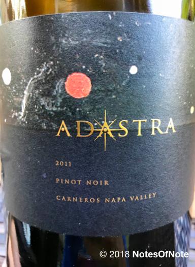2011 Adastra Pinot Noir, Carneros, USA