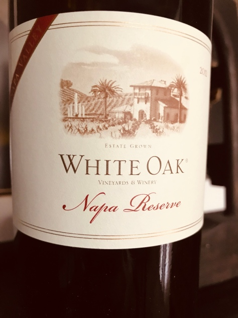 2012 Napa Reserve, White Oak Vineyards & Winery, Healdsburg, CA, USA.