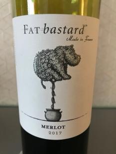 2017 Fat Bastard Merlot, Vin de Pays d'Oc, France.