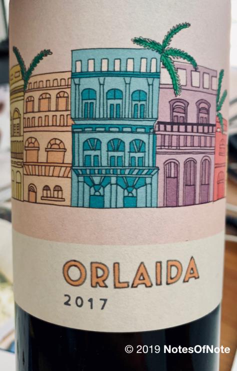 2017 Orlaida, Gil Family wines, Montsant, Spain.