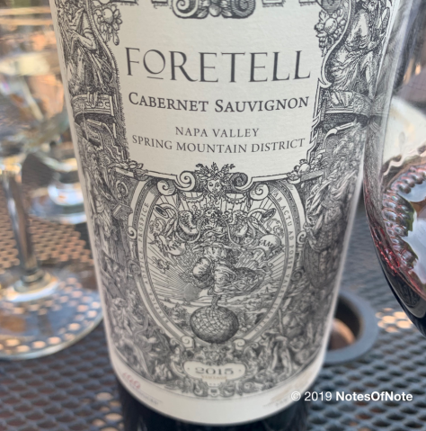2015 Foretell Cabernet Sauvignon, Terra Valentine, Spring Mountain District, Napa Valley, California, USA.