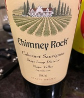 2016 Chimney Rock Cabernet Sauvignon, Stag's Leap District, Napa Valley, California, USA.