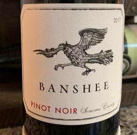 2017 Banshee Pinot Noir, Sonoma County, Sonoma, California, USA.