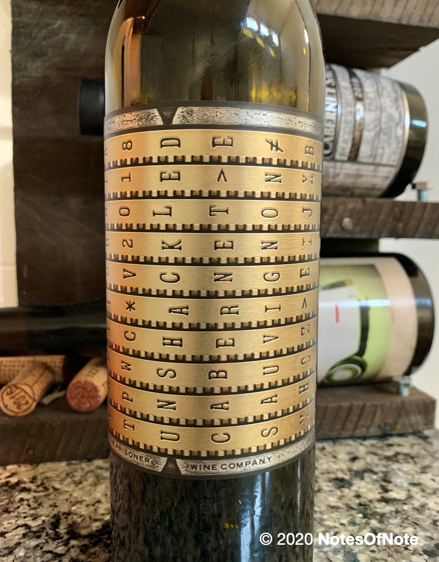 2018 Unshackled Cabernet Sauvignon, The Prisoner Wine Company