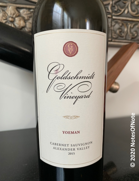 2015 Cabernet Sauvignon - Yeoman Vineyard, Goldschmidt Vineyards