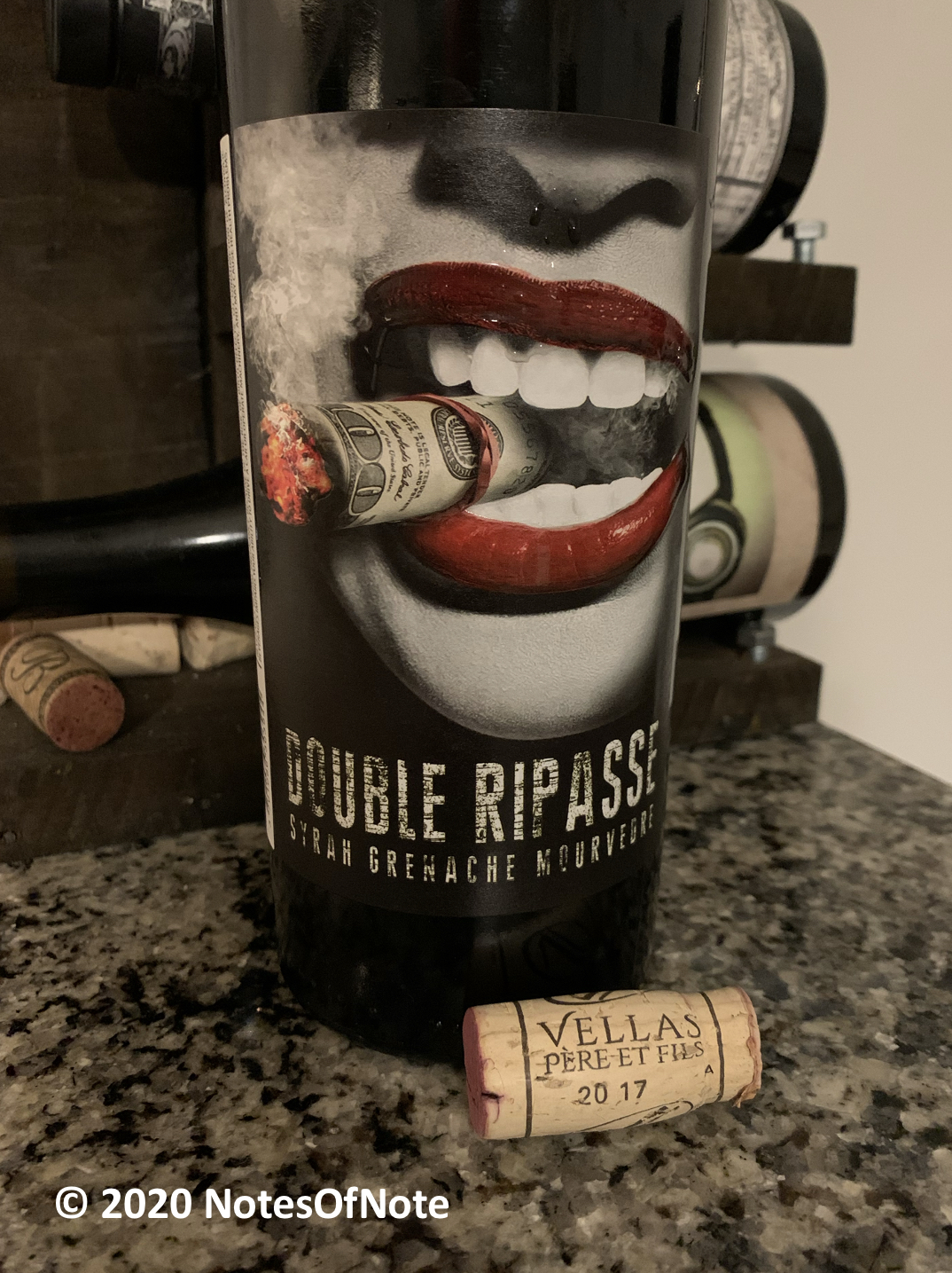 2017 Double Ripasse, Vellas Pere et Fils Languedoc, Rhône, France.