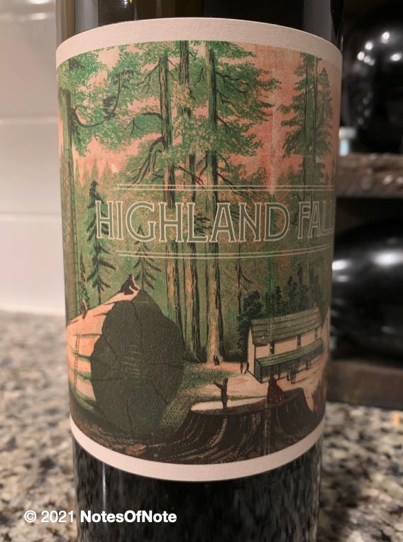 2018 Highland Falls Cabernet Sauvignon, California, USA.