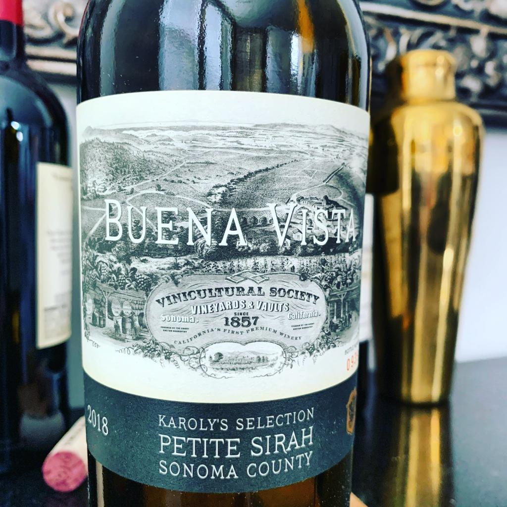 2018 Karoly's Selection Petite Sirah, Buena Vista Winery, Sonoma County, California. Expanding the vertical flight @BuenaVistaWines